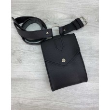 Жіноча сумка на пояс «Іда» чорна Welassie 99502