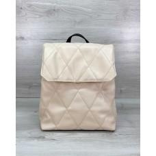 Стеганый сумка рюкзак бежевый Welassie 44009