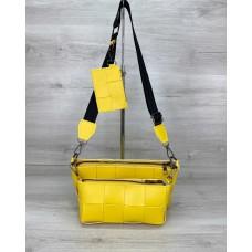Жіноча сумка «Саллі» комплект 3 в 1 жовта Welassie 63715