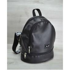 Молодежный рюкзак «Нашивка» черного цвета 42404