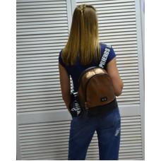 Молодежный рюкзак «Нашивка» бронзового цвета 42402