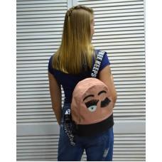 Молодежный рюкзак «Глазки» пудрового цвета 42503