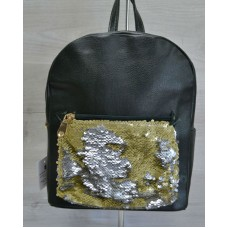 Молодежный рюкзак Welassie «Пайетки» золотая змея 42602