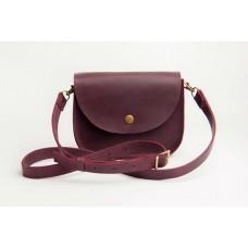Женская кожаная сумка Wellbags Saddle vinous mini W008.6M бордо