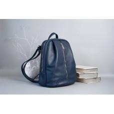 Рюкзак Wellbags Monik Leather Backpack blue w062 синій