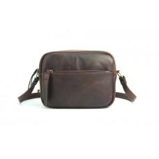 Женская сумка Wellbags CrossBody Verbenka brown w059.7 мраморно - коричневая