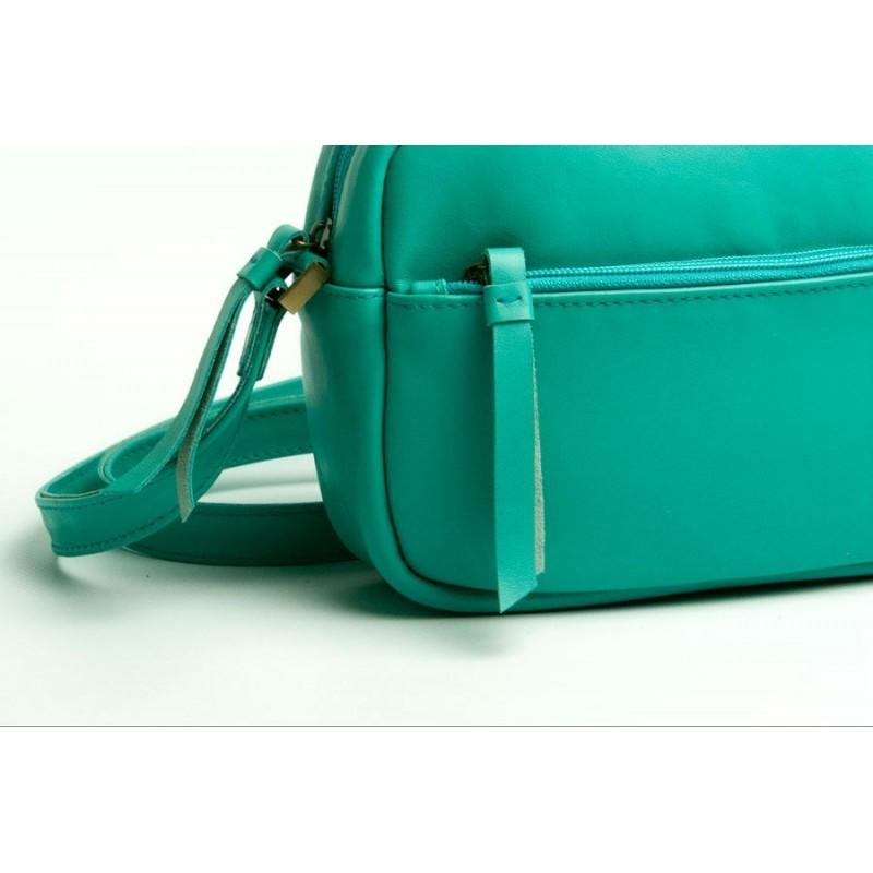 1062a330ebcb ... Женская кожаная сумка Wellbags CrossBody Verbenka mint green W059.6  мятно-зеленая ...