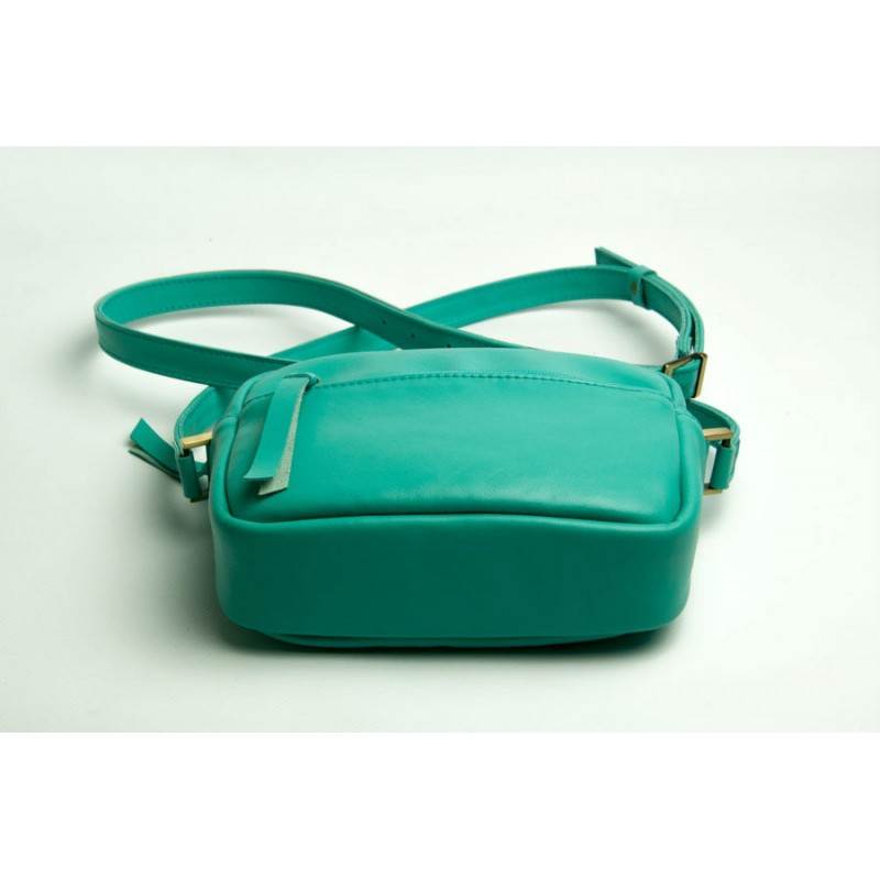 289e028b74c5 ... Женская кожаная сумка Wellbags CrossBody Verbenka mint green W059.6  мятно-зеленая
