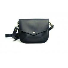 Женская кожаная сумка Wellbags Flapbag little blue W014.3M синяя