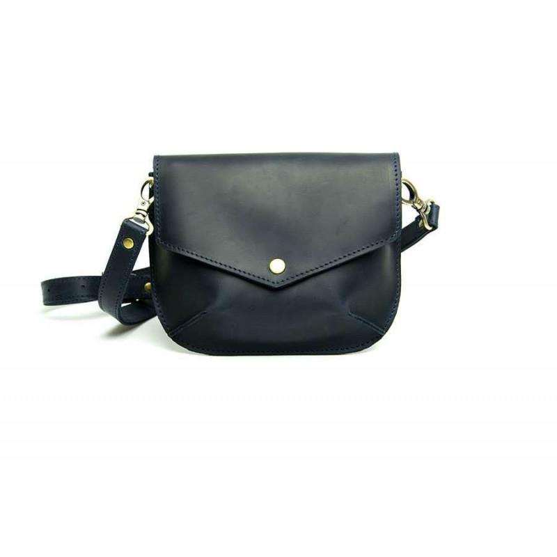 0f1d29487ae7 Женская кожаная сумка Flapbag little blue W014.3M синяя — купить от ...