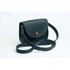 Женская кожаная сумка Wellbags Saddle blue mini W008.2M синяя
