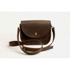 Женская кожаная сумка Wellbags Saddle brown min W008M коричневая