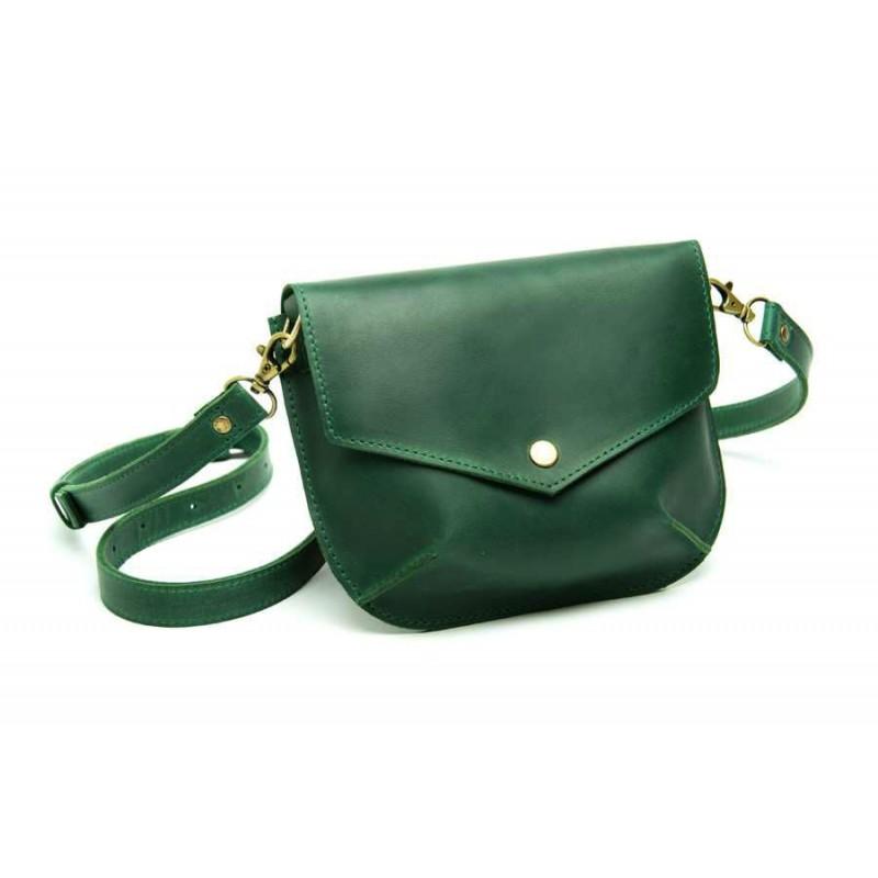 c4ea346d0d3f Женская кожаная сумка Flapbag little green W014.5M зеленый — купить ...