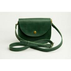 Женская кожаная сумка Wellbags Saddle green mini W008.5M зеленая