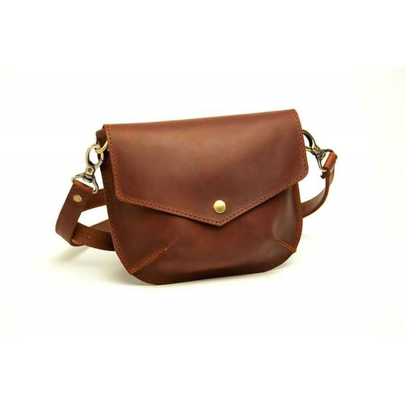 ffd2113d16d1 Женская кожаная сумка Flapbag little ocher W014.2M рыжая — купить от ...