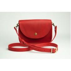 Женская кожаная сумка Wellbags Saddle red mini W008.4M красная