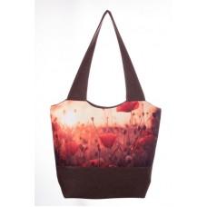 Міська сумка XYZ С0304 Флер Маки Коричнева