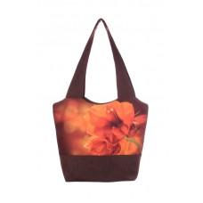 Міська сумка XYZ С0309 Флер Лілія Коричнева