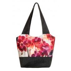 Міська сумка XYZ С0312 Флер Орхідея Темно-сіра