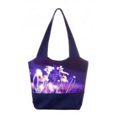 Міська сумка XYZ С0314 Флер Ромашки Синя