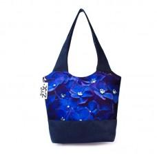 Міська сумка XYZ С0323 Флер Сині квіти Синя