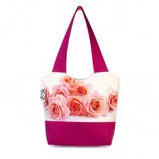 Міська сумка XYZ С0328 Флер Троянди Малинова