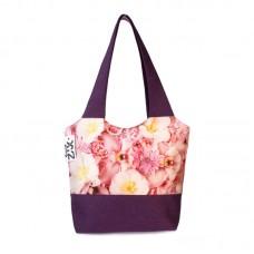 Міська сумка XYZ С0330 Флер Рожеві квіти Фіолетова