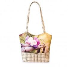 Міська сумка XYZ С0403 Плетінка Букет Айстр різнокольорова