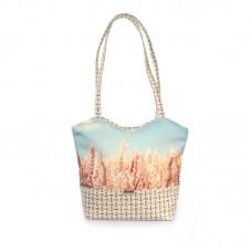 Міська сумка XYZ С0405 Плетінка Жито Небо різнокольорова