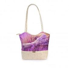 Міська сумка XYZ С0406 Плетінка Букет Лаванди різнокольорова