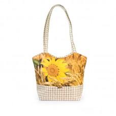 Міська сумка XYZ С0408 Плетінка Соняшник різнокольорова