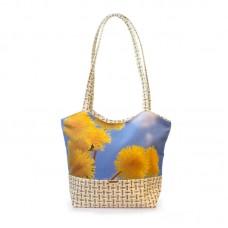 Міська сумка XYZ С0409 Плетінка Кульбаба різнокольорова