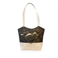 Міська сумка XYZ С0410 Плетінка Кріп різнокольорова