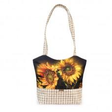 Міська сумка XYZ С0411 Плетінка Гібіскус різнокольорова