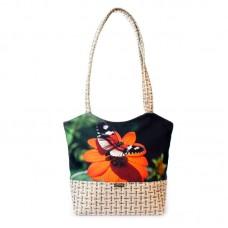 Міська сумка XYZ С0413 Плетінка Метелик на квітці різнокольорова