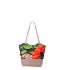 Міська сумка XYZ С0414 Плетінка Два соняшника різнокольорова