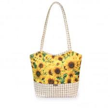 Міська сумка XYZ С0415 Плетінка Соняшники різнокольорова