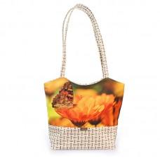 Міська сумка XYZ С0416 Плетінка Метелик і квітка різнокольорова