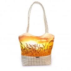 Міська сумка XYZ С0417 Плетінка Пшениця різнокольорова