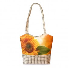 Міська сумка XYZ С0418 Плетінка Соняшник з листом різнокольорова