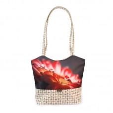 Міська сумка XYZ С0419 Плетінка Роса на квітці різнокольорова