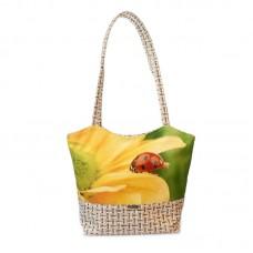 Міська сумка XYZ С0420 Плетінка Божа корівка на соняшнику різнокольорова