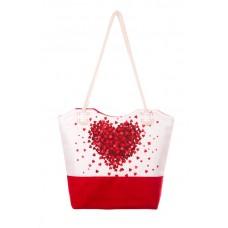 Міська сумка XYZ С0504 Санбич Серце червона