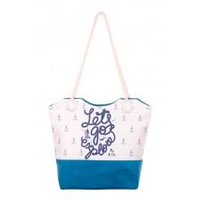 Міська сумка XYZ С0507 Санбич Напис бірюза