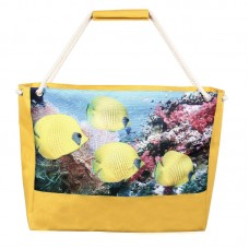 Пляжная сумка XYZ Holiday 2201 рыбки лимон
