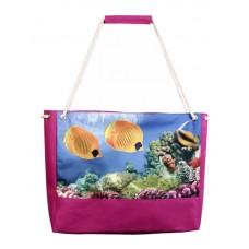 Пляжная сумка XYZ Holiday 2221 желтые рыбы