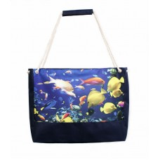 Пляжная сумка XYZ Holiday 2236 рыбы синяя