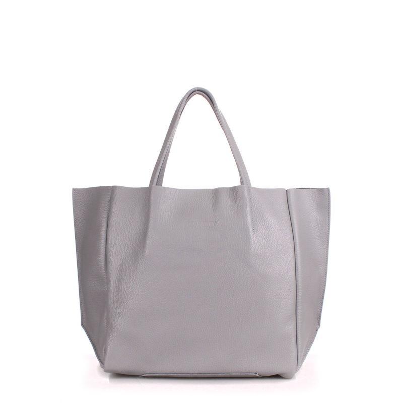 67ca49038459 Женская кожаная сумка POOLPARTY soho-grey серая купить от ...