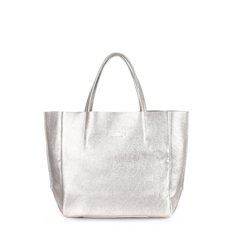 7d5b6010a10a Женская кожаная сумка POOLPARTY soho-silver серебристая купить от ...