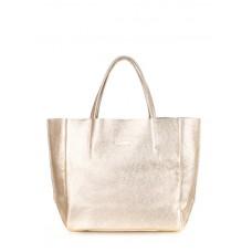 Женская кожаная сумка POOLPARTY soho-gold золотая